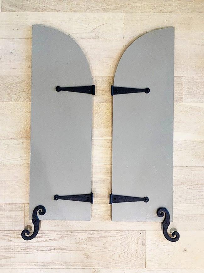 vinyl shutter hinges