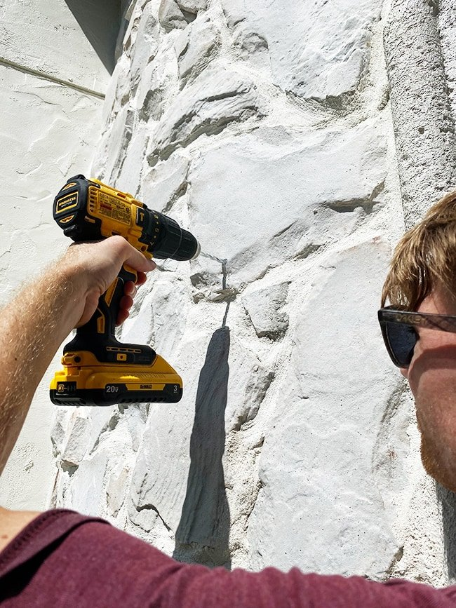 drilling into stone