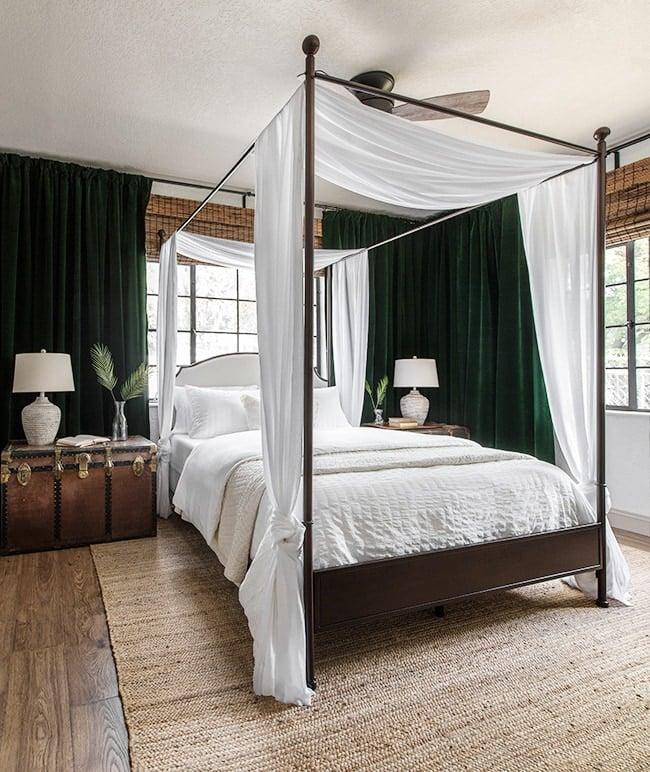 tropical oasis master bedroom