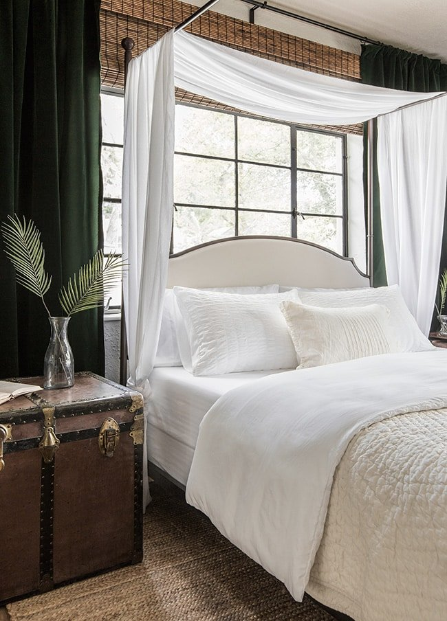 canopy bed scarf