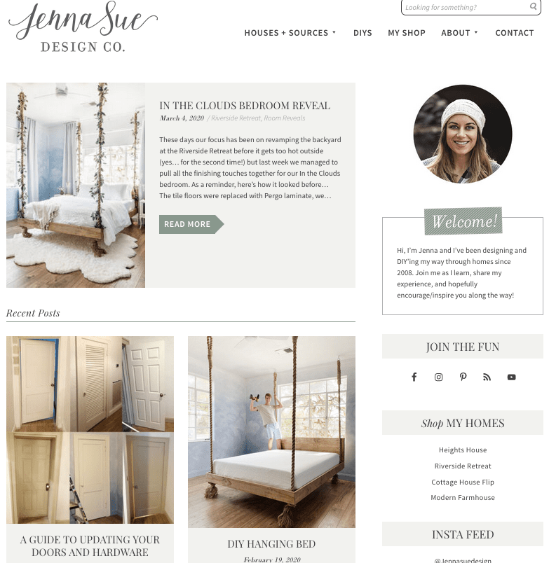 new blog home page design