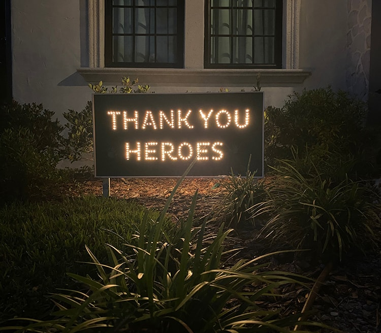 thank you heroes diy sign