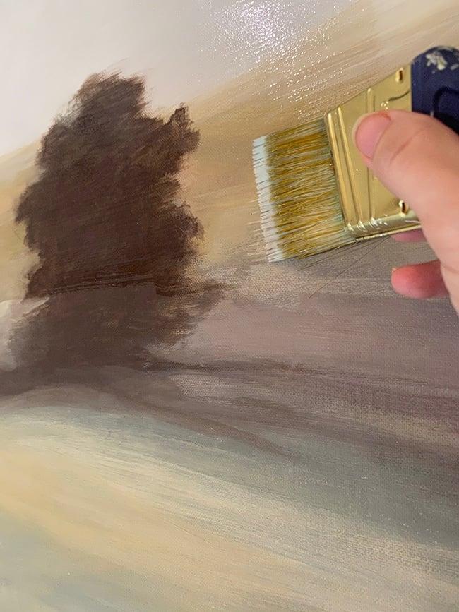 varnish acrylic painting