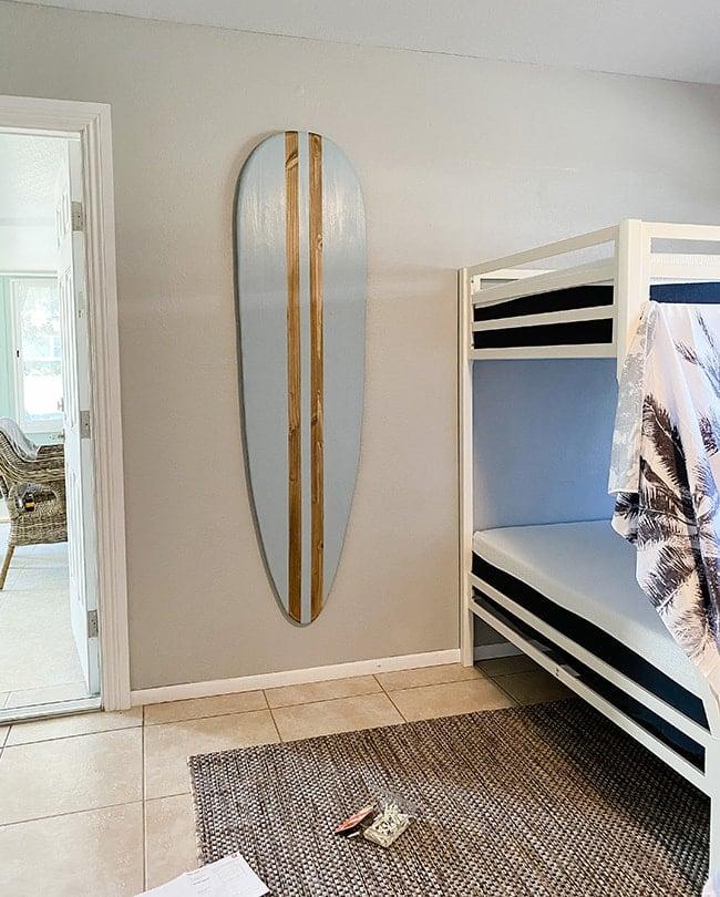 diy hanging surfboard