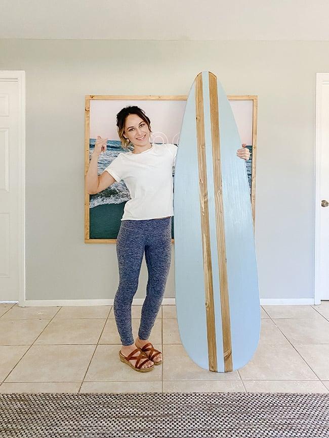 diy wood surfboard