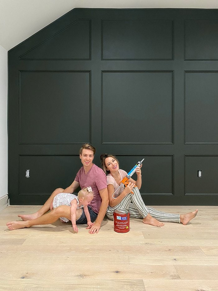 diy paneled wall tutorial