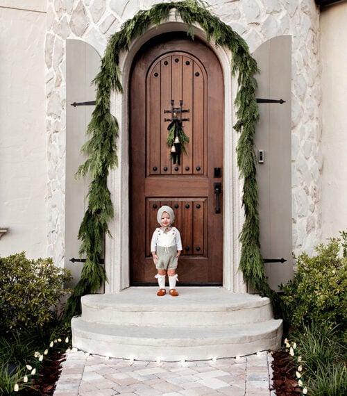 christmas front door photoshoot
