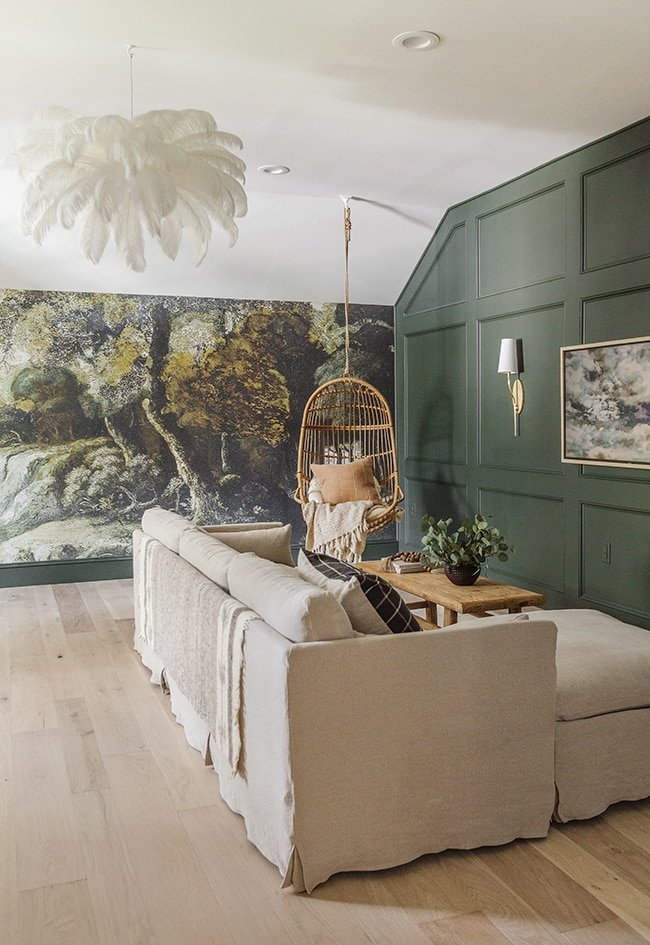 forest theme playroom