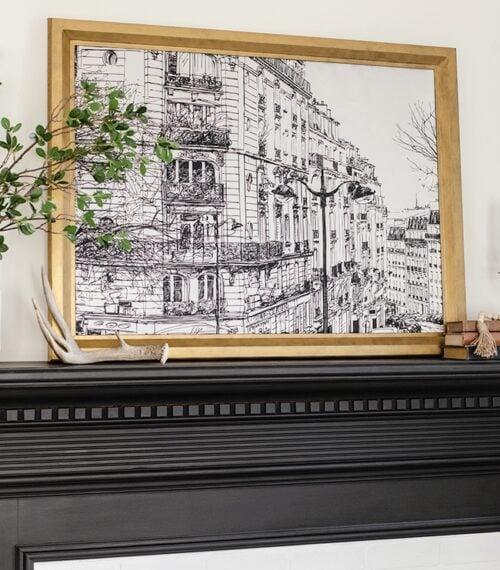 diy framed tapestry