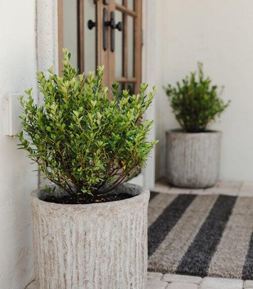 diy faux stone planter