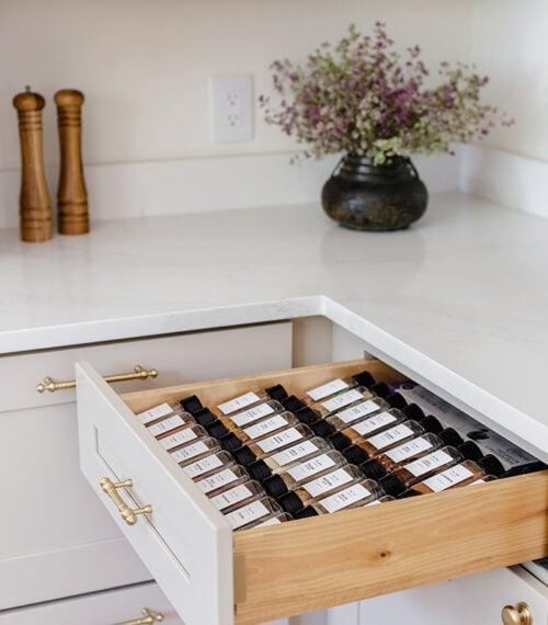 spice drawer organization